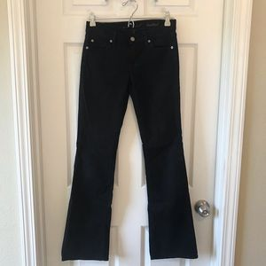 7 For All Mankind B(air) Denim Bootcut Jeans Black